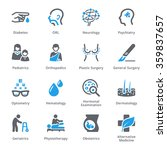 medical specialties icons set 2 ... | Shutterstock .eps vector #359837657