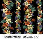 hibiscus flower pattern | Shutterstock .eps vector #359837777