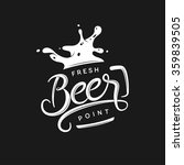beer point typography. vector... | Shutterstock .eps vector #359839505
