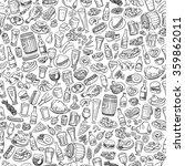 sketchy beer and snacks ... | Shutterstock .eps vector #359862011