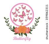 beautiful butterflies design  | Shutterstock .eps vector #359862311