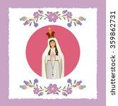 st mary the virgin design  | Shutterstock .eps vector #359862731