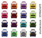 sixteen vehicles front view.... | Shutterstock . vector #359865695