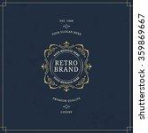vector calligraphic logo...   Shutterstock .eps vector #359869667