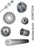 Assorted Abstract Gears