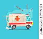 ambulance car   vector... | Shutterstock .eps vector #359879171