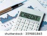 finance concept word credit... | Shutterstock . vector #359881865