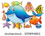 different kind of sea animals... | Shutterstock .eps vector #359894801