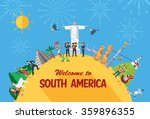flat design travel concept ... | Shutterstock .eps vector #359896355