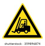 warning forklift trucks and... | Shutterstock .eps vector #359896874