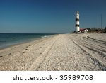 Small photo of Old lighthouse on Tendra island,Ukraine
