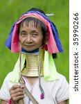 Portrait Of Long Neck Woman