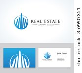 real estate logo hotel logo... | Shutterstock .eps vector #359909351