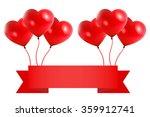 happy valentine's day big sale... | Shutterstock .eps vector #359912741