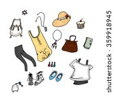 girl clothes style and... | Shutterstock .eps vector #359918945