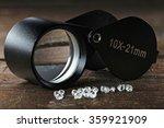 rough diamonds with folding...   Shutterstock . vector #359921909