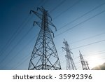 High Voltage Power Lines At...