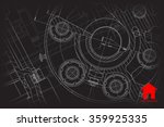vector technical blueprint of... | Shutterstock .eps vector #359925335
