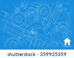 vector technical blueprint of... | Shutterstock .eps vector #359925359