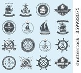 set of vintage nautical labels  ... | Shutterstock . vector #359933075