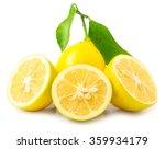 fresh lemon isolated | Shutterstock . vector #359934179