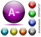 set of color decrease font size ...