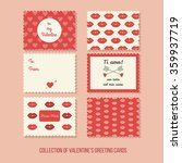 valentines greeting cards with... | Shutterstock .eps vector #359937719