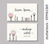 makeup artist business card.... | Shutterstock .eps vector #359961365