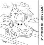coloring book  cartoon vector... | Shutterstock .eps vector #359963264