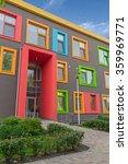multi colored windows of the... | Shutterstock . vector #359969771