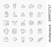 coffee line icon set | Shutterstock .eps vector #359972717