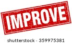 improve red square grunge stamp ... | Shutterstock .eps vector #359975381