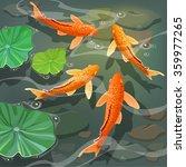 carps koi fish under water....   Shutterstock .eps vector #359977265