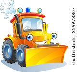 cartoon. funny tractor ... | Shutterstock .eps vector #359978807