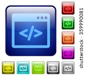 set of programming code color...
