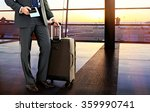 business man with suitcase in... | Shutterstock . vector #359990741