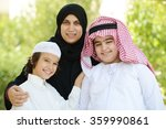 arabic boys with mother | Shutterstock . vector #359990861