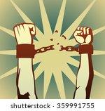 breaking the chain | Shutterstock .eps vector #359991755