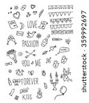 valentine day doodle pack. hand ...   Shutterstock .eps vector #359992697