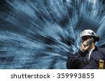 technician  engineer  with... | Shutterstock . vector #359993855