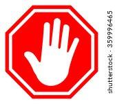 stop  red octagonal stop hand... | Shutterstock .eps vector #359996465