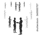 shelhouette man and woman  love ... | Shutterstock .eps vector #360000707