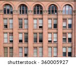 brick wall facade of building | Shutterstock . vector #360005927