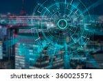 cyber laser target on a dark... | Shutterstock . vector #360025571