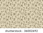 Stock vector seamless pattern wallpaper used runic alphabet 36002692