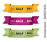 big sale banners | Shutterstock .eps vector #360027641