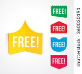 vector of free tag  free sign ... | Shutterstock .eps vector #360030191