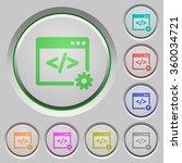 set of color web development... | Shutterstock .eps vector #360034721