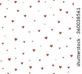 seamless pattern with hearts | Shutterstock .eps vector #360038561