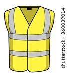 high vis vest | Shutterstock .eps vector #360039014